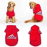 Freefisher Hundemantel für große Hunde Adidog Style (Rot, XL (Rückenlänge ca. 65-69cm)) - 6