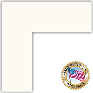 16x16 Super White Custom Mat for Picture Frame with 12x12 opening size