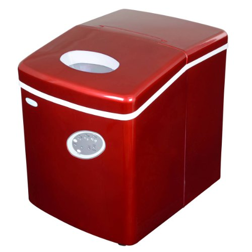 NewAir AI-100R 28-Pound Portable Icemaker, Red