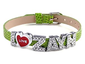 I Love Zayn I Love One Direction Peridiot Wristband Bracelet Slider Zircon Crystal Letter by Yiwu City Yinuo E-Commercial Business Co.,Ltd