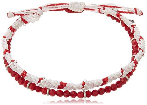 [Wakame, wakami 2 strand anklets stone red WA9874
