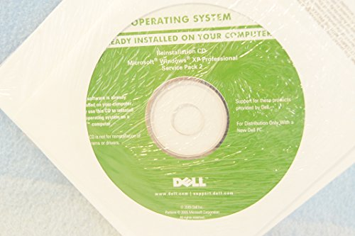 Dell Microsoft Windows XP Professional + Service Pack 2 P/N: JD153 Sealed New-Operating System Driver PC Computer Software Program Recovery Replacement Disc CD-Rom (Ms Windows Xp compare prices)