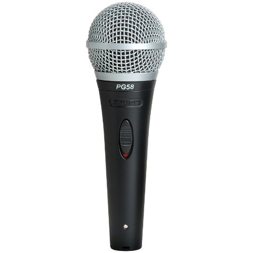 Shure PG58-QTR Cardioid Dynamic Vocal Microphone with 1/4-inch Cable