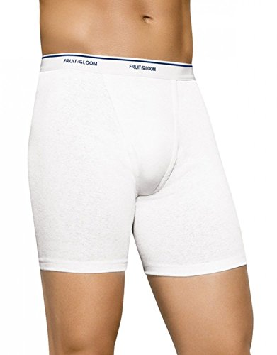 NEW Fruit of the Loom Men's 4pk Classic White Boxer Briefs - 2XL (Fruit Classic Briefs compare prices)