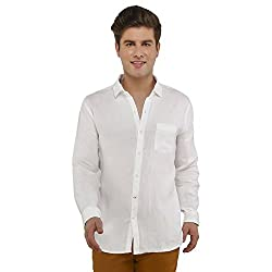 Attila Men's Casual Shirt (33051000WH_White_42)