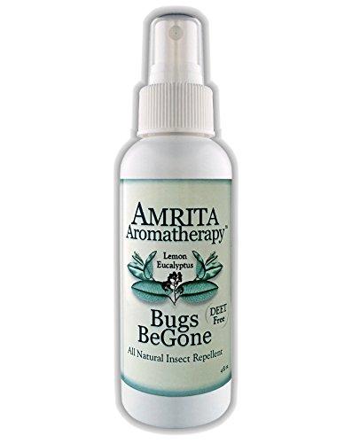 Amrita Aromatherapy: Bugs BeGone - Lemon Eucalyptus Essential Oil, DEET-Free Natural Insect Repellent & Non-Toxic Bug Spray: Mosquito, Flea, Tick & Chigger Deterrent (120 Milliliter Pump Spray)