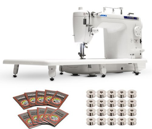 Juki TL-2010Q 1-Needle, Lockstitch, Portable Sewing Machine with Automatic Thread Trimmer for Quilting, Tailoring, Apparel and Home Decor & Bonus Package Including Bobbins and Needles – Best Price thumbnail