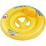 Inflatable Swim Safe Neon Yellow Baby Floatation Seat
