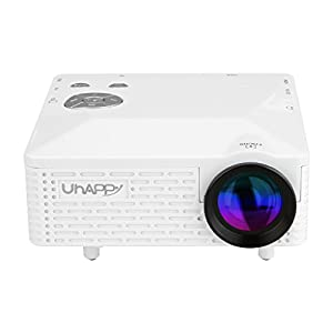 Uhappy Pico Mini LED Multimedia Home Theater Cinema Video Projector 320x240 with USB AV VGA SD HDMI Inputs -White by Uhappy