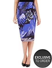 Twiggy for M&S Women Leaf Print Pencil Skirt
