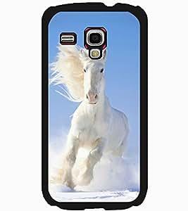 ColourCraft Beautiful White Horse Design Back Case Cover for SAMSUNG GALAXY S3 MINI I8190