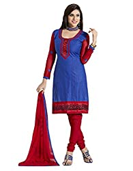 fabgruh Blue colour dress material