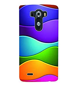 ColourCraft Coloured Pattern Back Case Cover for LG G3 D855