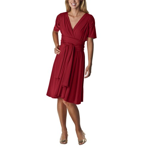 Mossimo%C2%AE+Women%27s+Multi-wear+Twist+and+Wrap+Dress+-+Carmen+Red+-+XL