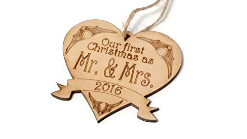 2016 Our First Christmas as Mr. & Mrs. ornament - 4 in x 3.75 in