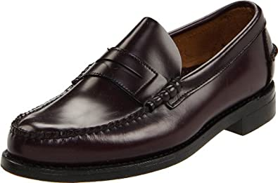 Sebago Mens Classic Moc Toe Penny Loafers Dress Shoes Cordo Leather, 6.5 B