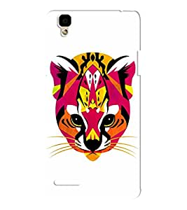 EPICCASE Artistic tiger Mobile Back Case Cover For Oppo F1 (Designer Case)