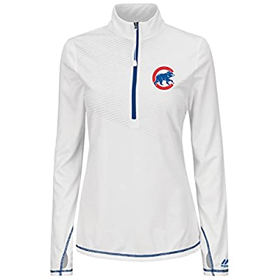 Chicago Cubs Women's Majestic Athletic Concept 1/2 Zip Therma Base Shirt