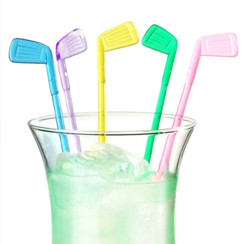 Golf Club Cocktail Stirrers - Pack of 50 | Plastic
