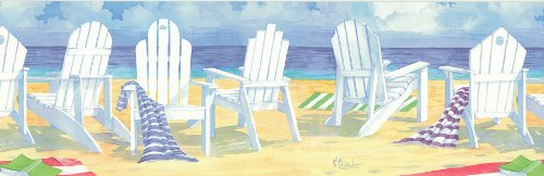 Brewster 144B87706 Destinations By The Shore Beach Day Wall Border, 9-Inch By 12-Feet front-55326