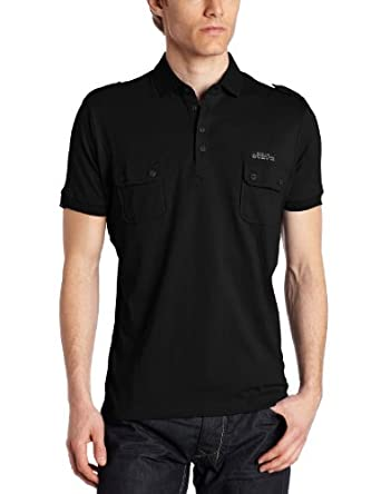 (大牌)迪赛Diesel Men's T-pocky Shirt男子休闲POLO 黑 $31.9