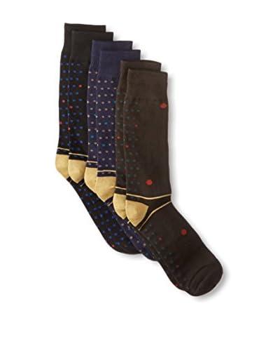 Florsheim by Duckie Brown Men's Dots Socks - 3 Pack