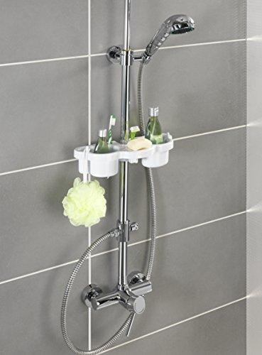 Wenko 7038100 mensola per asta doccia 2 recipienti porta - Wenko accessori bagno ...