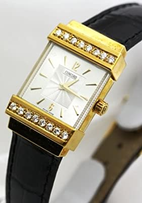 Concord Crystal 18k Gold and Diamond Bezel Women's Watch