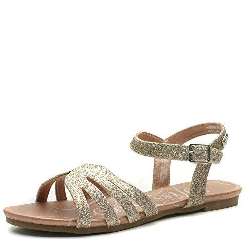 Miss SixtyMs962 - Scarpe con cinturino alla caviglia da ragazza' , Oro (oro), 36 2/3 EU