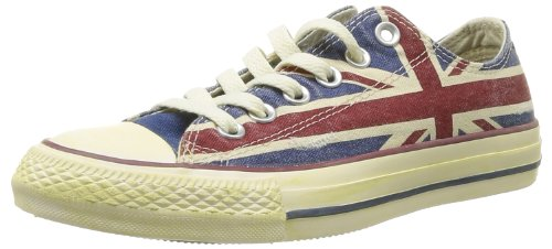 Converse, All Star OX Canvas Graphics, Sneaker, Unisex - adulto, Multicolore (UK Flag Distressed), 38