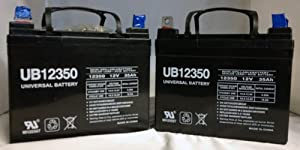 12V 35AH Wheelchair Battery Replaces 33ah Enersys Genesis NP33-12 - 2 Pack by UPG