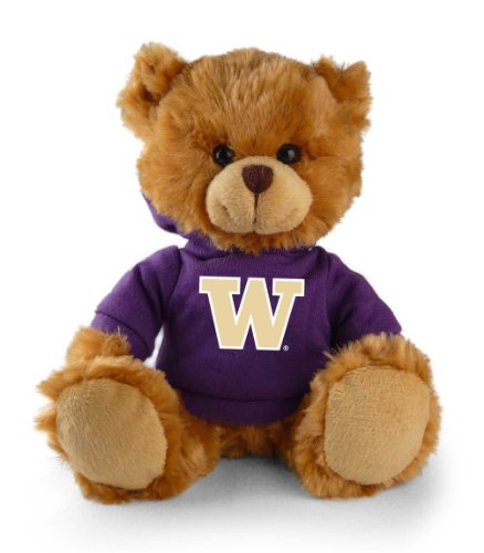 "Plushland NCAA 8"" Plush Hoody Teddy Bear-Washington Huskies - 1"