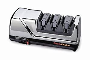 Chef's Choice 120 Diamond Hone 3-Stage Professional Knife Sharpener, Chrome