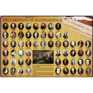 Declaration of Independence Wipe-off Placemat