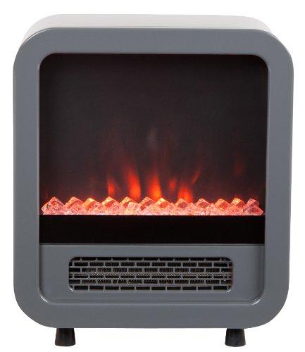 Fire Sense 61449 Skyline Electric Fireplace Stove, Silver