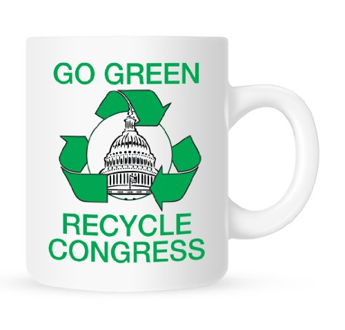 Go Green, Recycle Congress - Coffee Mug - 11 Oz.