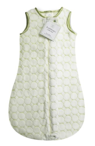 Swaddledesigns Zzzipme Sack With 2-Way Zipper, Cozy Microplush Wearable Blanket, Pastel Puff Circle - Kiwi 12-18 Months