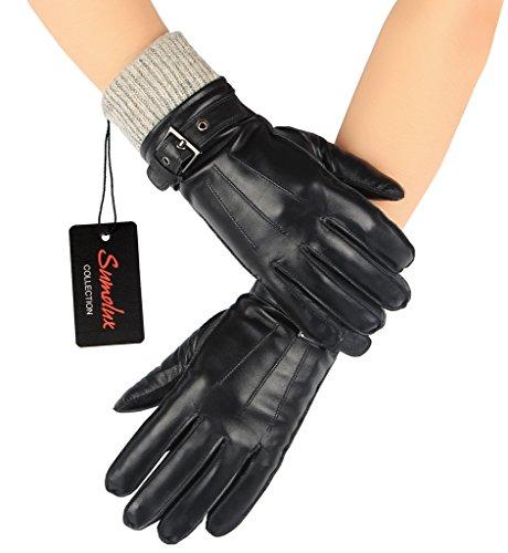 sumolux-gants-en-cuir-longue-avec-dentelle-gants-chauds-gants-de-conduite-elegant-et-a-la-mode-pour-