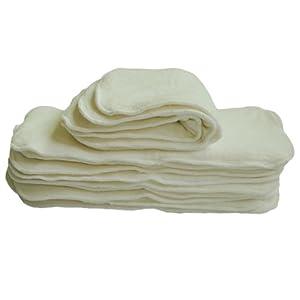 Alva Baby Cloth Diaper 4layers Antibacterial Bamboo Inserts Super Water Absorbent 12pcs 12mb