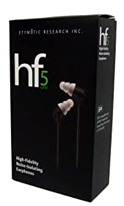 Etymotic Research HF5 Portable iPhone and iPod In-ear Earphones- for cheap