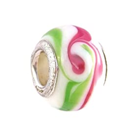 Pandora Style Charm Bead (Z116) Murano Style / Lampwork Glass (14mm x 10mm) (fits Troll too)