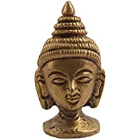 "Handmade Vintage Brass Bronze Buddha Head 1.4"" Idol Statue God Figurines IndianShelf"