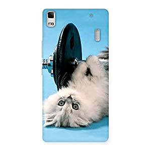 Delighted Fit Cat Multicolor Back Case Cover for Lenovo A7000