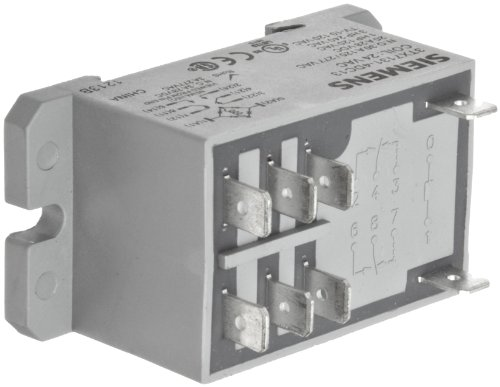 Basic Plug In Enclosed Power Relay, Dpdt Contacts, 30A No/3A Nc Contact Rating, 24Vac Coil Voltage