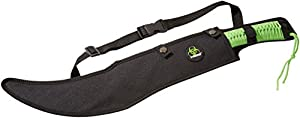 Z-Hunter ZB-020 Zombie Killer Machete, Two-Tone Full Tang Blade, Green Cord-Wrapped Handle, 23-3/4-Inch Overall