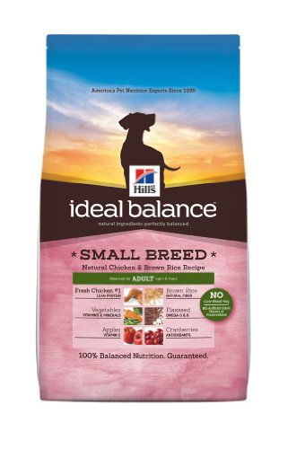 Hill's Ideal Balance Chicken and Brown Rice Recipe Adult Small Breed Dog Dry Food Bag, 4-Pound