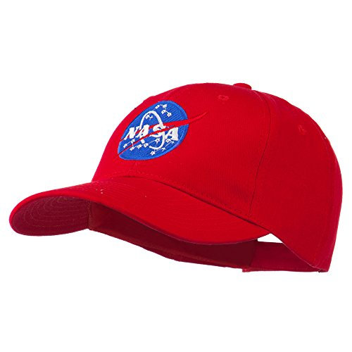 NASA Insignia Embroidered Cotton Twill Cap - Red