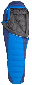 Marmot Sawtooth Down Sleeping Bag, Regular-Left, Blue