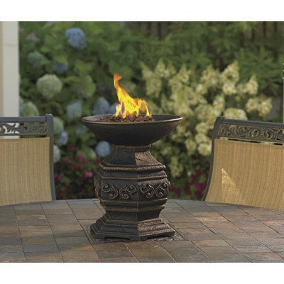 Gas Patio Fire Pit Outdoor Tabletop Fire Urn Gas Propane