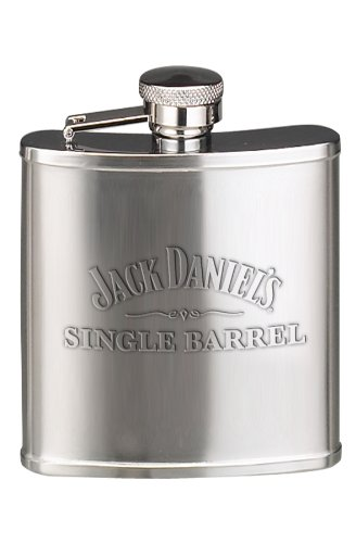Jack Daniel's Licensed Barware Single Barrel Flask, 5-Ounce (Jack Daniels Barrel Flask compare prices)